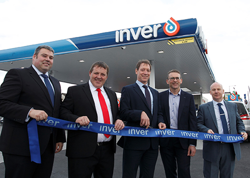 Inver ribbon cutting at launch of Hurlers Cross Service Statio