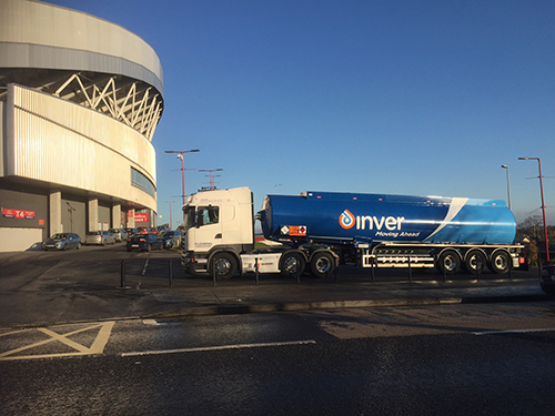 Inver truck at Thomond Park for the First Dealer Conference