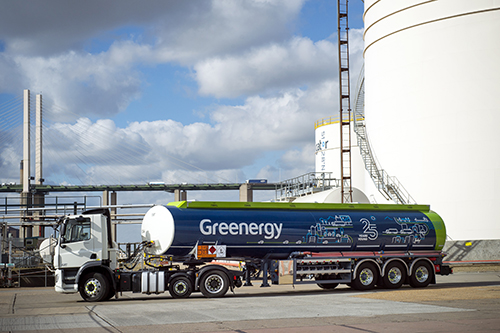 Greenergy Truck at terminal